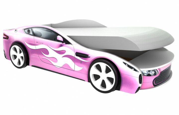 Детская кровать-машинка Бондмобиль Розовый