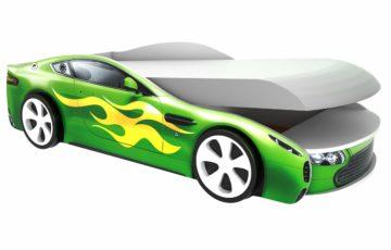 Детская кровать-машина Бондмобиль Зеленый