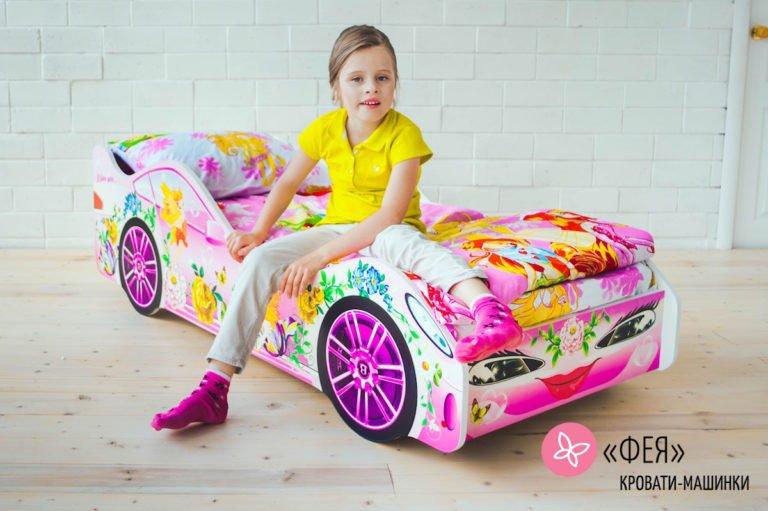 Детская кровать-машинка Фея