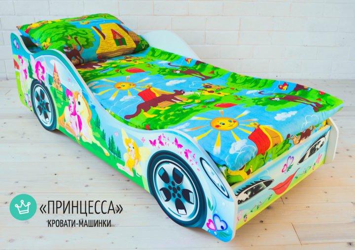 Детская кровать-машинка Принцесса