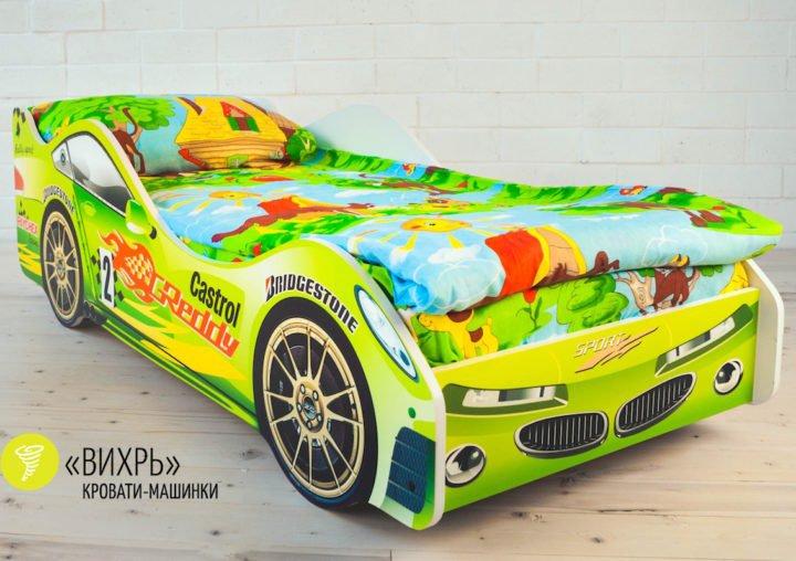 Детская кровать-машинка Вихрь
