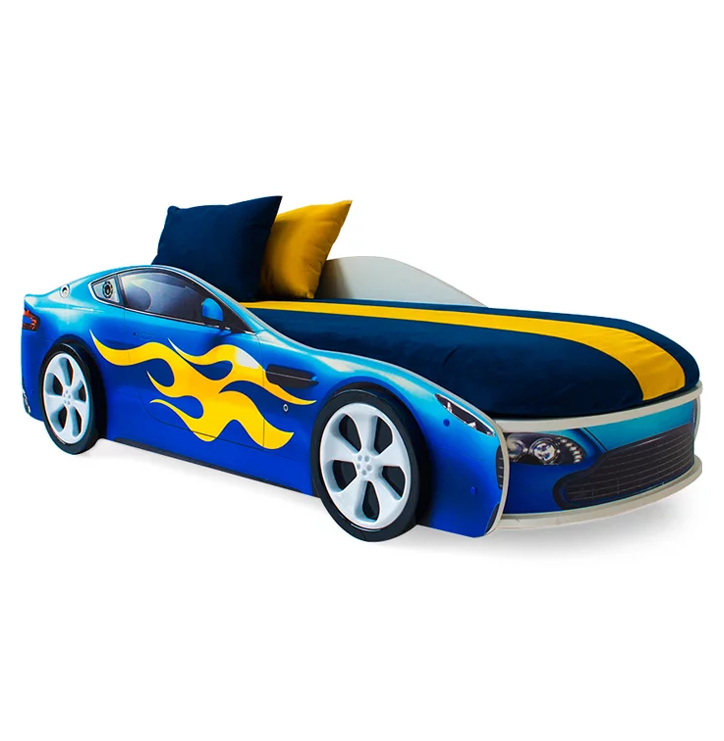 """Кровать-машина Бельмарко «Бондмобиль синий» в интернет-магазине """"Бельмарко"""""""