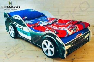 кровать машинка объемная с эффектом 3D