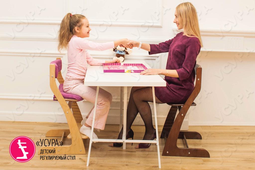 Усура детский коричневый стул