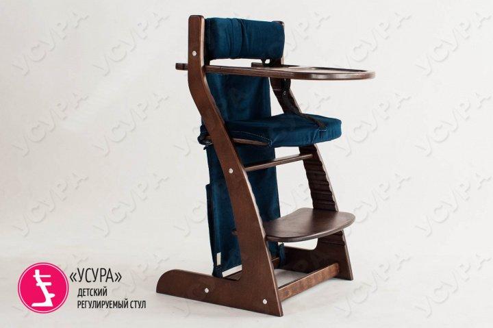 Карманы для детского стула синие