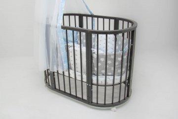 """Круглые кровати трансформер для новорожденных 6 в 1 """"MiKante"""""""