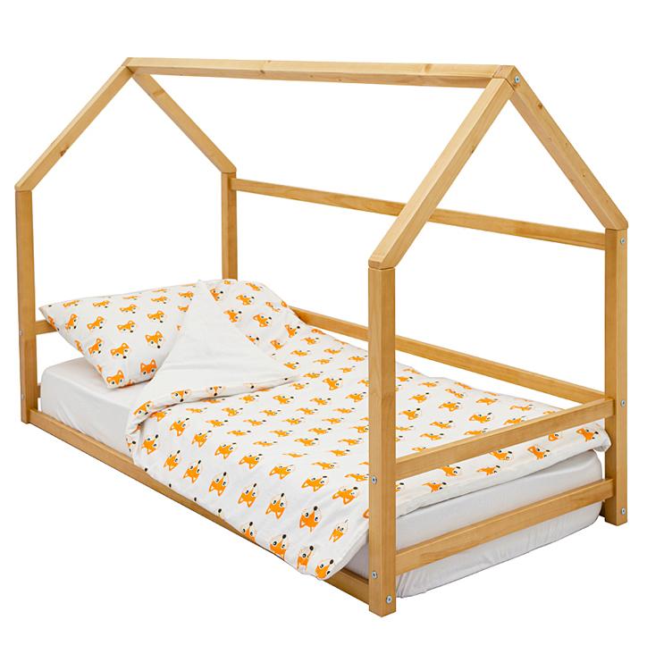 Детская кровать-домик Монтессори Бельмарко «Svogen» дерево